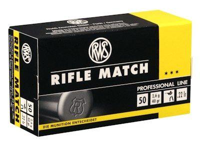 RWS Rifle Matchcompetition cartridges
